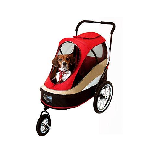 QinWenYan Carro para Mascotas Cochecito del Animal doméstico Gran Espacio Plegables Perros y Gatos Universal for Llevar Bolsa de Viaje Suministros for Mascotas de la Compra para Mascotas