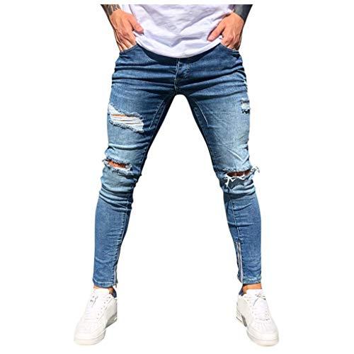 Briskorry ripped jeans Stretch herren Slim Fit Denim Blaue Lange eanshose für Männer Freizeithose Jogginghose Cargo Chino Sommer Winter Basic Style Jogging Pants
