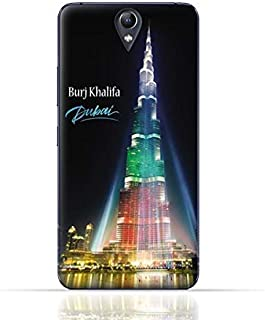 Lenovo Vibe S1 Lite TPU Silicone Case with Burj Khalifa Illuminated with UAE Flag Colors - Dubai Design