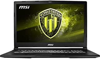 MSI WE73 8SK-292 Mobile Workstation Laptop (Windows 10 Professional, Intel Core i7-8750H Processor, 17.3