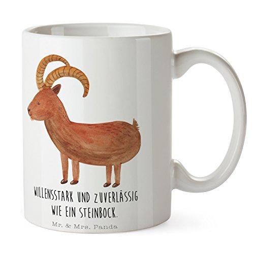 Mr. & Mrs. Panda Tee, Kaffeebecher, Tasse Sternzeichen Steinbock mit Spruch - Farbe Weiß