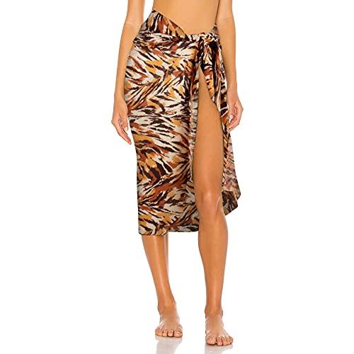 Gebell Damen Chiffon Strand Sarong - Wickelrock Strandtuch für Frauen Bikini Beachwear Sarong Sexy Chiffon Strandtuch Pareo Tuch Strandschal Sommer
