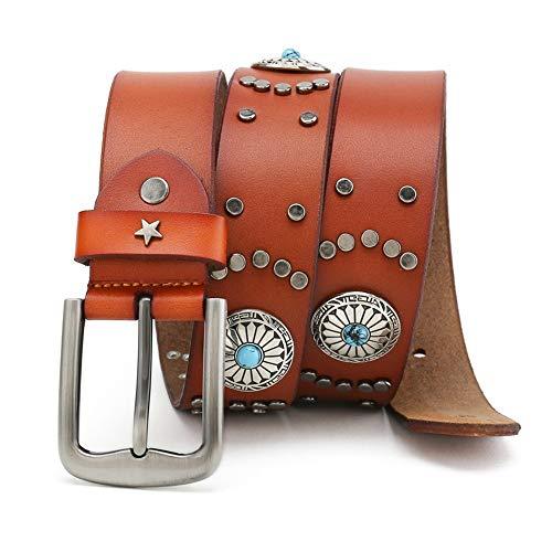 Aliang Cinturón de viento nacional Cinturón, Casual Cowboy Belts For Jeans, regalo perfecto para tus amigos, colegas, amante, socio
