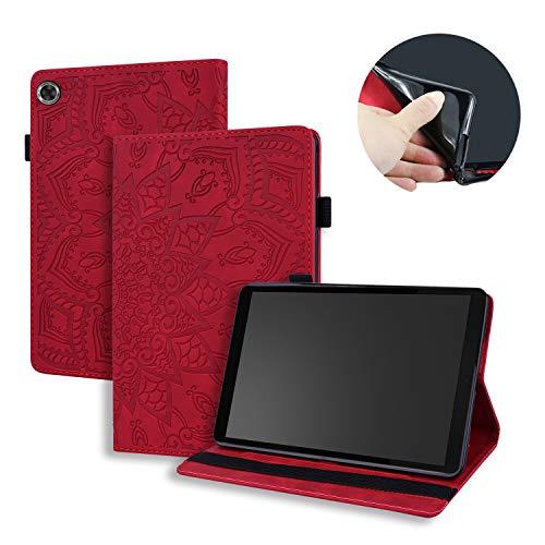 Tedtik Funda para Lenovo Tab M8 HD TB-8505 Tablet 8' 2019 - Funda Protectora Ligera y Suave a Prueba de Golpes - Rojo