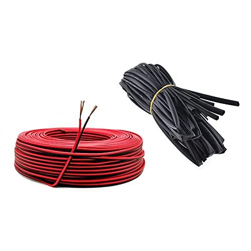 22AWG Cable Electronica+Ø2mm Tubo Termorretráctil,0,33mm2 Alambre Cobre Estañado para Conectores de Tira...