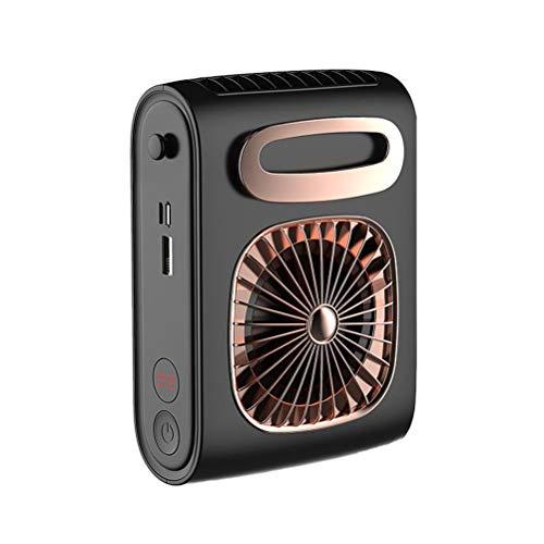 FreshWater Cinturón USB para colgar en la cintura, ventilador portátil, mini ventiladores de manos libres, ventilador de cintura colgante para trabajadores al aire libre