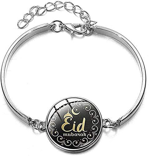 NC188 Collar musulmán islámico clásico, Cultura de Alá, Pulsera chapada en Plata Sagrada, Ramadán Mubarak, patrón de Dibujos Animados, joyería de muñeca, Regalos de Festival