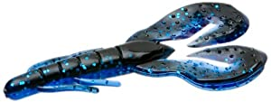 Zoom Super Speed Craw-Pack of 8 (Black Sapphire, 3.75-Inch)