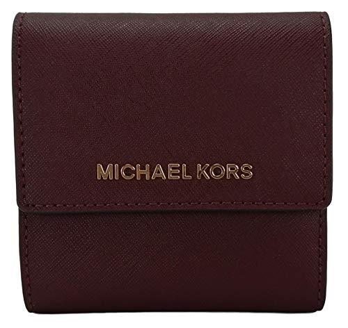 Michael Kors - Portafoglio portadocumenti, in pelle Saffiano Rosso Merlot small