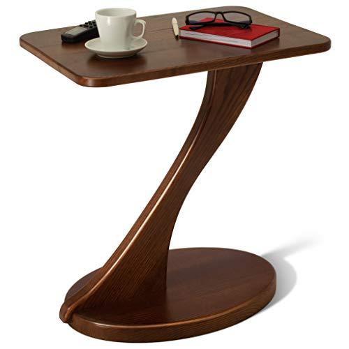 Tavolino moderno in legno massello tavolino piccolo divano comodino comodino per soggiorno camera degli ospiti balcone ufficio tavolino scandinavo tavolino d'appoggio Gamba ovale naturale frassino