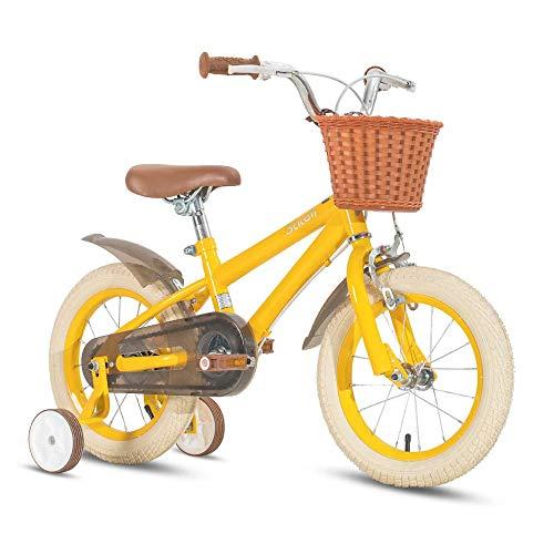 Bicycle 16 Inch Bmx Kids Children Unisex Speed Bike Bicycle, Yellow-16