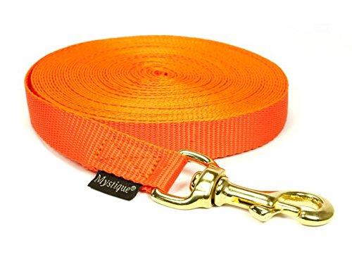 Mystique Nylon Schleppleine 20mm neon orange 10m robust Karabinerhaken mit HS