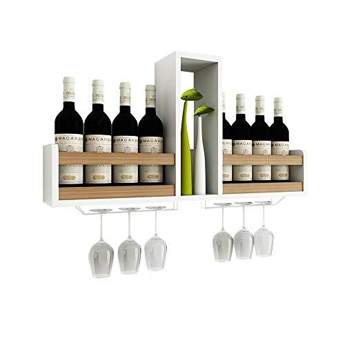 MEIDUO Cremagliera del Vino Scaffale da Parete per Armadio da Parete Moderno mensola Semplice Compilare Qualsiasi Spazio (Colore : Colore del Legno)
