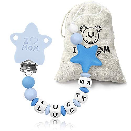 RUBY - Chupetero personalizado para bebe con nombre bola