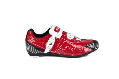 Spiuk 15 Road - Zapatilla de ciclismo unisex, color rojo / blanco, talla 49