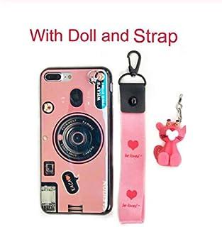 Fitted Cases - Retro Camera Case For for Xiaomi Redmi Note 7 Case Fashion Hand Strap Doll Phone Case For Redmi 7 6 Pro Red...