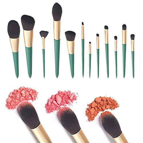 Make-up Pinsel Set 12 PCS Premium Synthetic Foundation Puder Concealer Lidschatten Rouge Make-up...