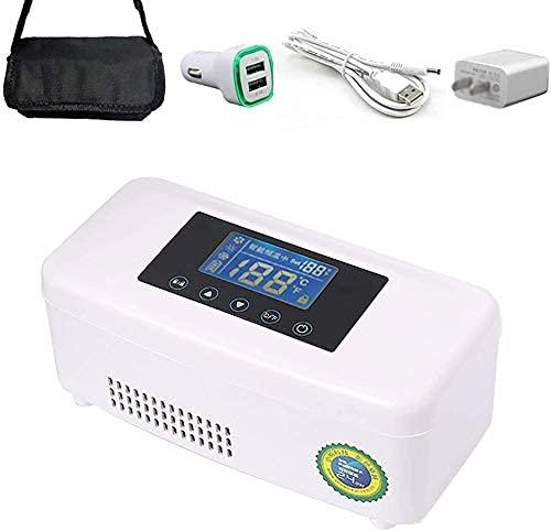 XBR Nevera portátil, Caja de refrigeración portátil para Coche, pequeña Caja de Viaje para medicamentos, Nevera, Medicina y Enfriador de insulina para Coche, Viajes, hogar