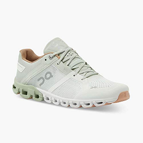 ON Cloudflow Zapatillas de correr para mujer, aloe/blanco, color Blanco, talla 40.5 EU