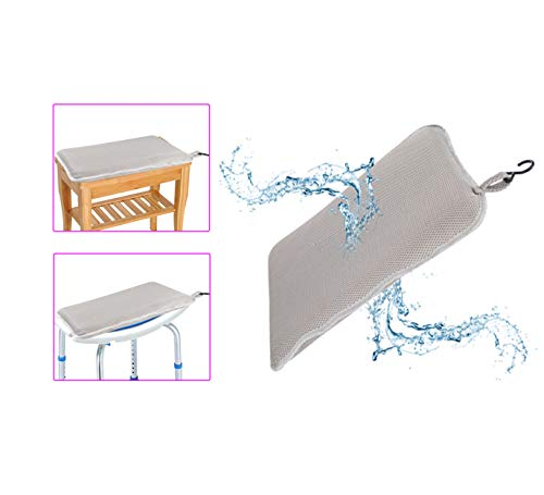 Shower Bench Seat Bathtub Cushion Shower Chair for Elderly Seniors Bath Cushion Shower Seats Transfer Bench Handicap Tub Benches for Bathtubs Disabled Shower Chairs Pillow Padded Bath Stools Seat Mat
