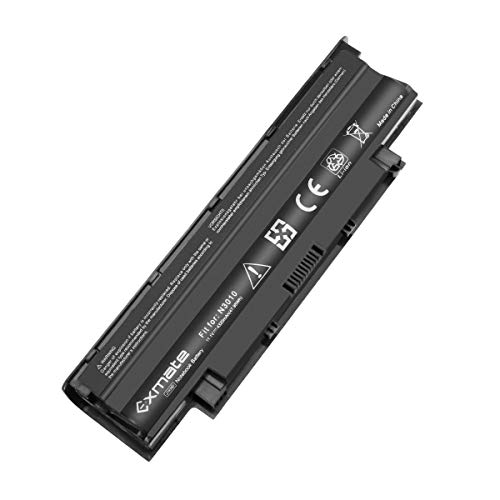Exmate 48WH Laptop Battery for Dell Inspiron N3010 N4010 N5010 N7010 13R 14R 15R 17R 3420 3520 M5110 M4110 M501 M503, J1KND WT2P4 383CW 4T7JN W7H3N 11.1V 4320mAh