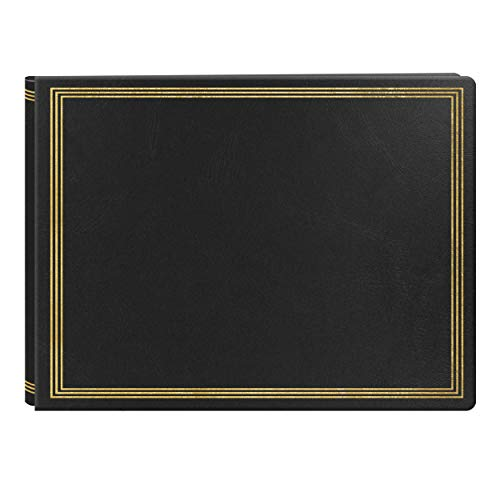 Pioneer Post-bound Deluxe Boxed Leatherette Magnetic Album, Black