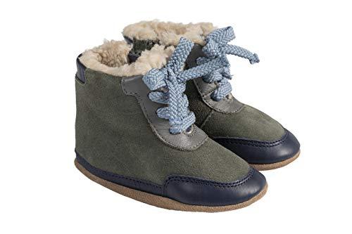 Robeez Wyatt Olive Cozy Baby Shoe 6-12mo