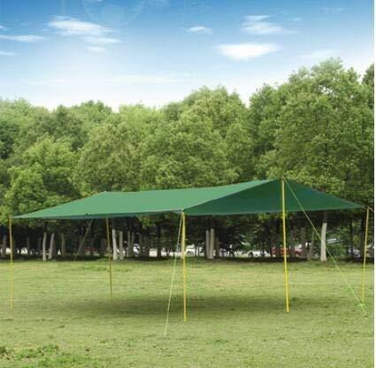 weichuang Außenzelt 6m * 8mLarge Outdoor-Zelt, Baldachin.Silikon beschichtet Licht hoch wasserdichtes Gewebe Mehrpersonen-Plane, regendicht Sonnenschutz-Markise Zelt (Color : Green)