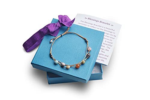 Blessing Bracelet with a Heart Warming Inspirational Card Presented in a Gorgeous Gift Box for Best Friends, Couples & Family | The Perfect Caring Gift by BlankieGram (Tan)