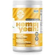 Manitoba Harvest Hemp Yeah Balanced Protein + Fibre Powder,Unsweetened,454g,with 15g protein,8g Fibre&2g Omegas 3&6 per Serving