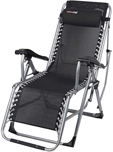 OESFL Silla Silla de Gravedad Cero Silla reclinable Plegable al Aire Libre Salón de Camp Cama Portable Multifuncional Presidente Puede soportar 200 Kg