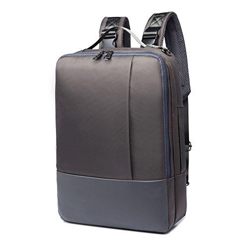 Premium Backpack Briefcase Messenger Bag for Dell Alienware 15 / Acer Predator 21 X/Predator 15 / Triton 700 / Helios 300 / Samsung Galaxy Notebook 9 Pro 15 /Notebook 7 Spin 15.6 Laptop (Gray)