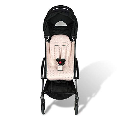 Fundas BCN F191/4597 - Colchoneta para BabyZen Yoyo + Cubre Arneses - Estampado Little Fun Peach