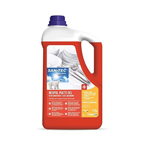 Neopol gel-schotelreiniger voor handwas van servies, 5 kg - aloë en granaatappel.
