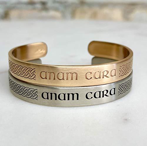 Anam Cara Cuff Bracelet in Silver, Gold, or Copper, Irish Bracelet, Celtic Bracelet, Irish Jewelry, Irish Bracelet, Bangle Bracelet - Handmade in Wisconsin