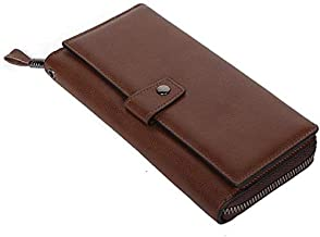 Men are casual leather wallets, wearable business clutches, top layer cowhide large capacity long card holde