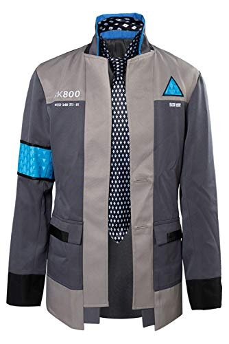 Disfraz deJuego Cosplay de Halloween para Hombre Chaqueta de Uniforme de Policia Detective Conjunto Completo, XS