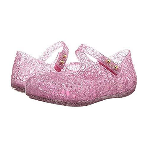mini melissa Baby Girl's Mini Campana Zig Zag VI (Toddler) Candy Pink Glitter 7 Toddler M