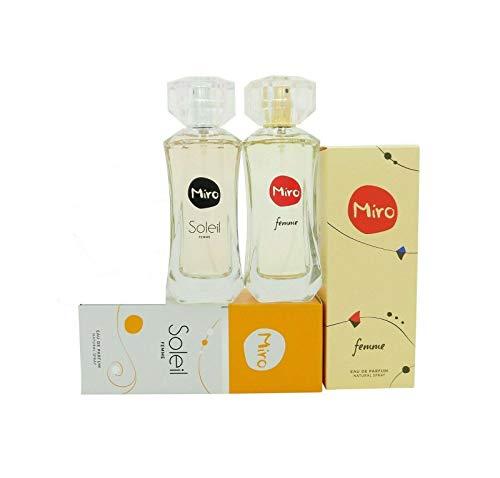MIRO Femme Eau de Parfum Spray 50 ml + MIRO SOLEIL Femme Eau de Parfum Spray 50 ml