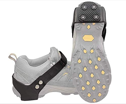 PERFETSELL 1 Paar Schuhspikes Schnee und EIS Anti Rutsch Schuhkrallen Spikes Ice Klampen Steigeisen Outdoor Spikes für Schuhe Winter Eiskrallen Schuhe Eisspikes für Winter