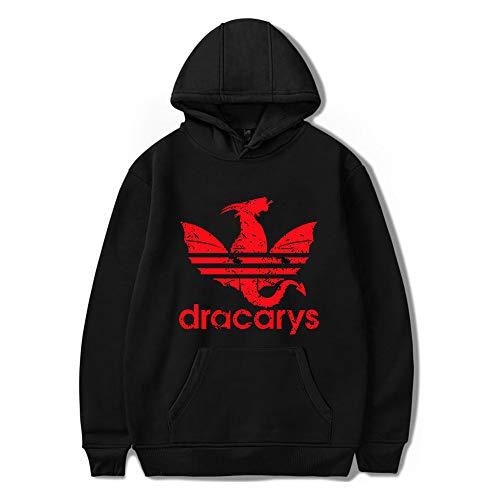 Dracarys Dragon Hoodie, Game of Thrones Felpa con Cappuccio Pullover per Uomo Donna