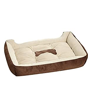 Big Grand Chien Canapé lit Maison chenil lavable Hiver Polaire chaude Golden Retriever Pitbull pour animal domestique Lit Tapis de coussin