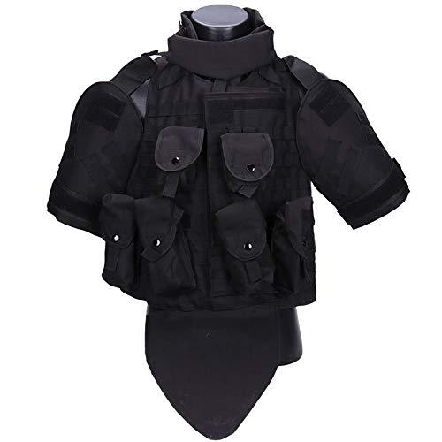 Tactical Molle Vest Military Tactical Vest CS Field Vest Airsoft Vest for Men Combat Vest Breathable Lightweight (Black)