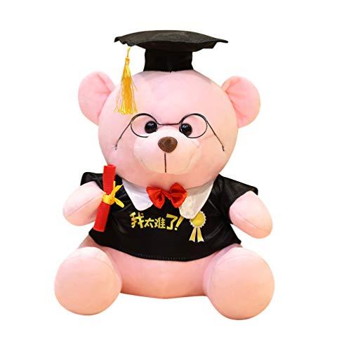 WINOMO Oso de Peluche de Clase de 2021 Sombrero de Graduación Práctico Oso Figurita Animales de Peluche Juguetes Muñecas para Niños de La Escuela Secundaria Graduación Ceremonia Regalo