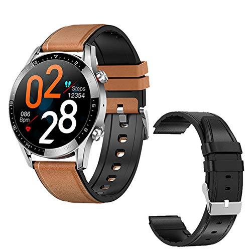 LVF GT05 Bluetooth Smart Watch, IP68 Impermeable Touch Touch Touch Monitor De Sueño Pulsera con Ritmo Cardíaco para Hombres Y Mujeres con Reloj Inteligente Deportivo De Reloj para Android iOS,N
