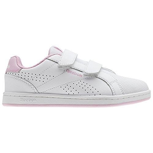 Reebok Royal Comp CLN 2V, Zapatillas de Tenis para Niñas, Blanco (Blanco/(White/Charming Pink) 000), 27 EU