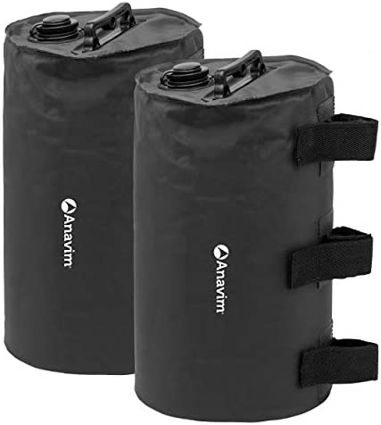 Anavim Canopy Water Weights Bag Leg Weights for Pop up Canopy 2pcs Pack Black product image
