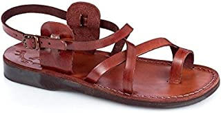 Jerusalem Sandals Men's The Good Shepard Buckled Toe-Ring Sandal