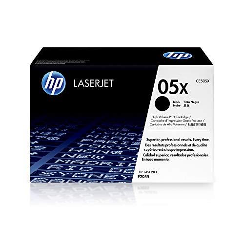 HP 05X | CE505X | Toner Cartridge | Black | Works with HP LaserJet P2055 series | High Yield
