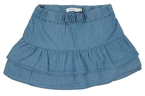 NAME IT Kinder Mädchen Rock Jeansrock Mini NMFBIANA Skirt, Größe:80